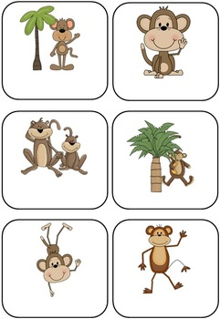 Jungle Monkey Themed Blank Classroom Labels - 48 pages