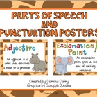 Jungle Parts of Speech and Punctuation Posters