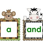 Jungle Pre-Primer Words and ABC Order