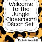 Jungle Print Classroom Decor Set