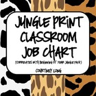 Jungle Print Classroom Job Chart