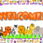 Jungle Safari Animals Welcome Postcard - FREE