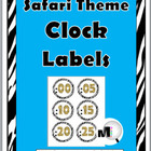 Jungle Safari Clock Labels