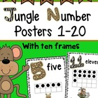 Jungle Safari Number Posters 1-10