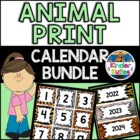 Jungle / Safari Theme Calendar BUNDLE (numbers, months, da