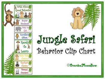 Jungle Safari Themed Behavior Clip Chart