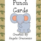 Jungle Safari Themed Punch Cards