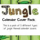 Jungle Theme Calendar Covers