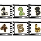 Jungle Theme Calendar Numbers 2 sets
