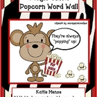 Jungle Theme Popcorn Word Wall