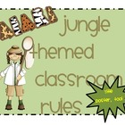 Jungle Theme - Safari Theme Classroom RULES Posters