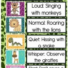 Jungle Theme Voice Level Classroom Poster Chart Freebie
