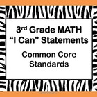 Jungle Theme Zebra Stripes - 3rd Grade Math - Common Core 