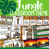 Jungle Themed Classroom Decor and Organizational Pack
