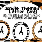 Jungle Themed Letter Cards