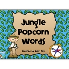 Jungle Themed Popcorn Words