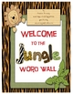 Jungle Themed Word Wall