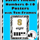 Jungle - Zebra Theme Numbers 0-10 Posters with Ten-Frames