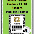Jungle - Zebra Theme Numbers 10-20 Posters with Ten-Frames