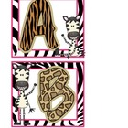 Jungle Zebra Word Wall Headers
