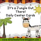 Jungle and Safari Daily Center Cards