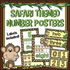 Safari-themed Number Posters and Labels Classroom Decor