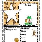 Jungle/Safari/Animals Classroom Theme Beginning of Year Materials