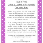 Junie B. Jones One Man Band Novel Study
