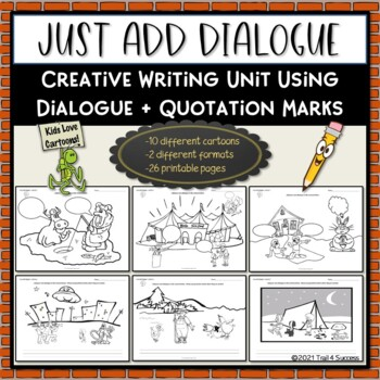 """Just Add Dialogue"" Cartoon Creative Writing Unit Printabl"