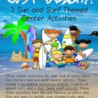 Just Beachy! 3 Sun and Surf Themed Center Activities