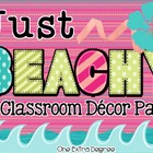Just Beachy: A Classroom Decor Pack!
