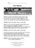 Just Behave Companion Lyrics Sheet