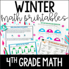 Just Print! Winter Themed Common Core Printables {4th Grade Math}