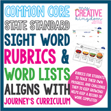 K-1 Common Core Sight Word Assessment: Rubric & Word List