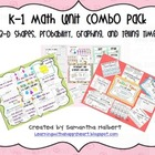 K-1 Math Combo Pack, 3-D Shapes, Probability, Graphing &amp; Time