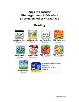 K-2 Academic iPod/iPad Apps