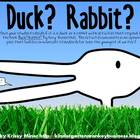 K-2 Duck!  Rabbit!  Book Common Core Standard Writing Acti