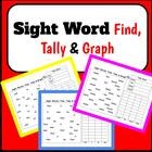 K-2 FRY Words Pack: Find-Tally-Graph for first 100 words