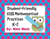 K-2 Mathematical Practices: Student Friendly Language