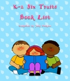 K-2 Six Traits Book Lists