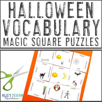 K-6 Halloween Magic Square FREEBIE