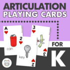 K & G Articulation Game Card Deck