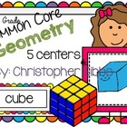 K/1 Geometry Common Core Aligned Math Centers/Tubs/Tasks