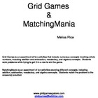 K3 Grid Games and MatchingMania