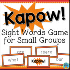 KAPOW! Sight Word Game for Small Groups
