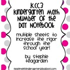 K.CC.3 Number of the Day Notebook