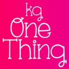 KG One Thing Font: Personal Use