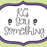 KG Say Something Font: Personal Use