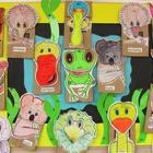 KOALA PAPER BAG CRAFT PUPPETS SAMPLER AUSSIE ANIMALS MUSIC