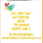 KWL Chart and Anticipation Guide for Ramona Quimby, Age 8 Novel